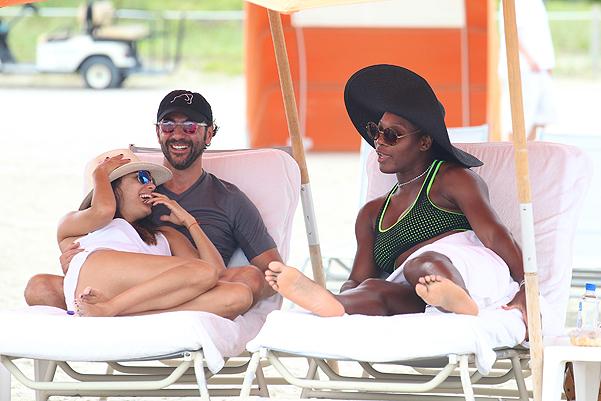 New BFF's Eva Longoria and Serena Williams spend a day at the beach in Miami