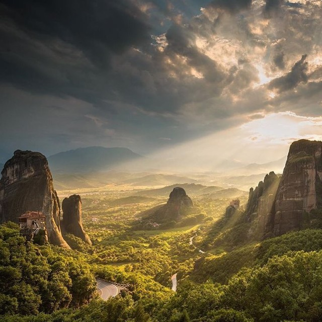 The morning light in Meteora cant be beat tlpicks courtesyhellip