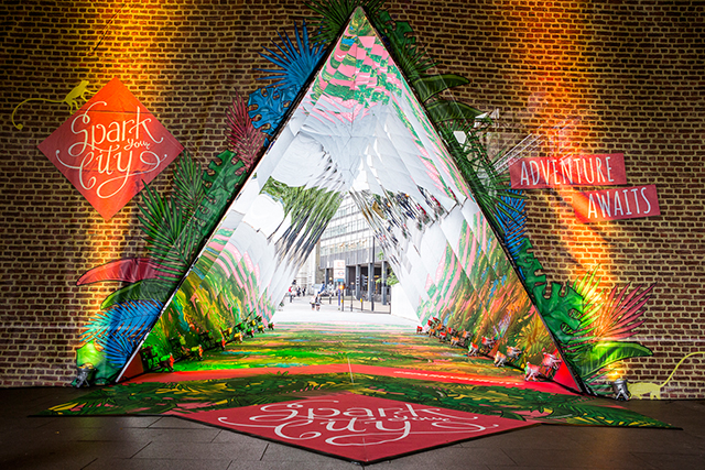 Giant Interactive Kaleidoscope Is Installed On London's Southbank