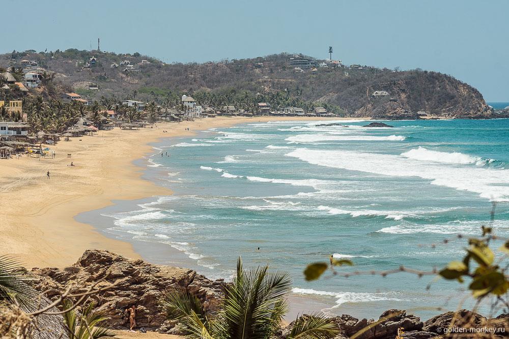 Пляж Циполит в Мексике
