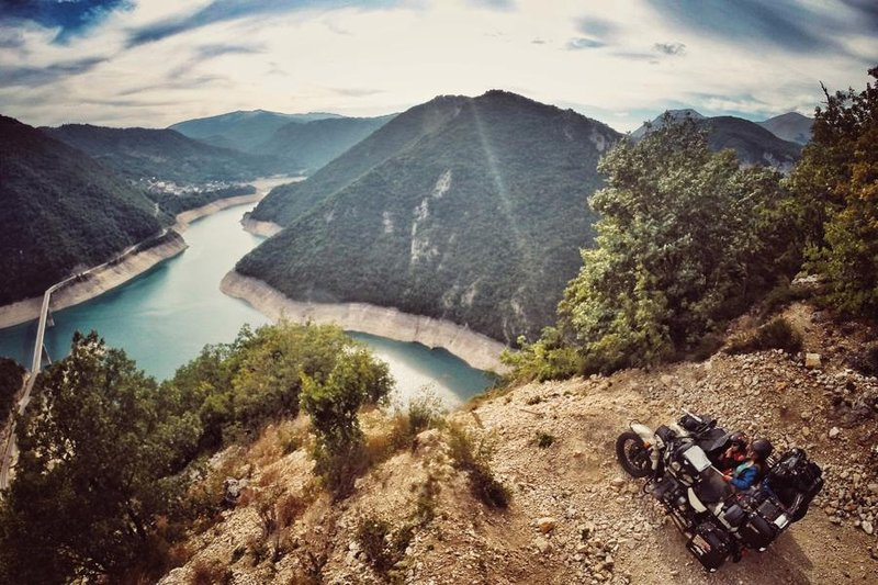 Lake Piva, Montenegro.