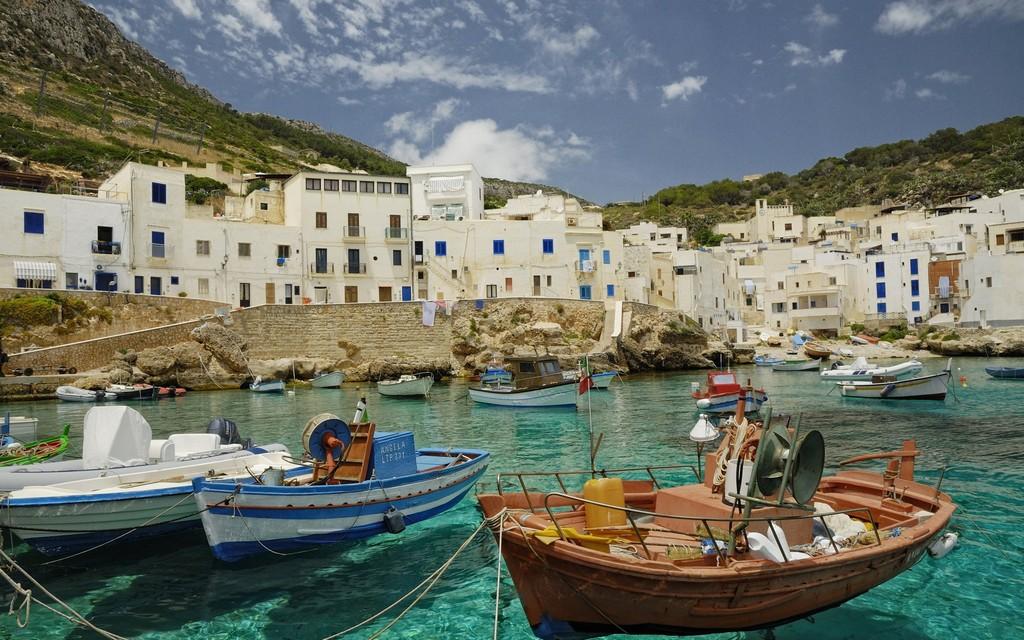 World___Italy_Boats_near_the_shore_on_the_island_of_Sicily__Italy_065119_