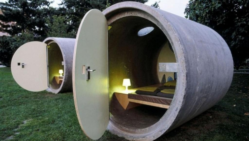 Sewage Pipe Pods (Ottensheim, Austria)