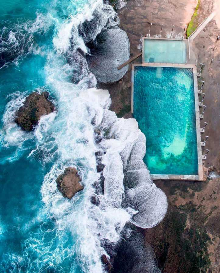 Бассейн на пляже Mona Vale, Новый Южный Уэльс, Австралия