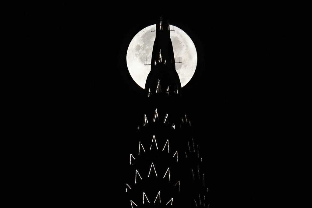 New York USA supermoon