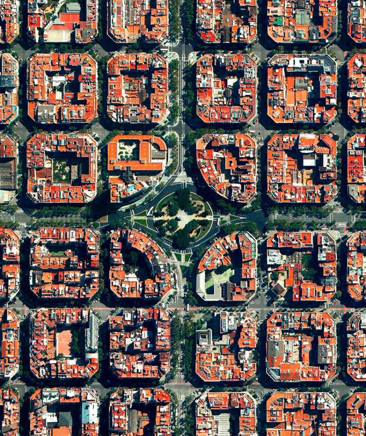 Площадь Тетуан, Эшампле, Барселона, Испания