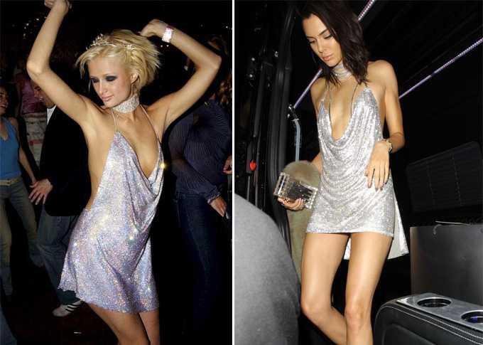 Платье Парис Хилтон в котором она праздновала свой 21-й год рождения - стало вдохновением для Кендалл