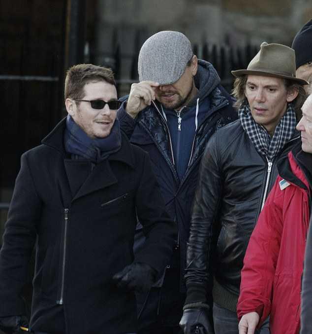 Leonardo DiCaprio sight seeing at Edinburgh Castle.