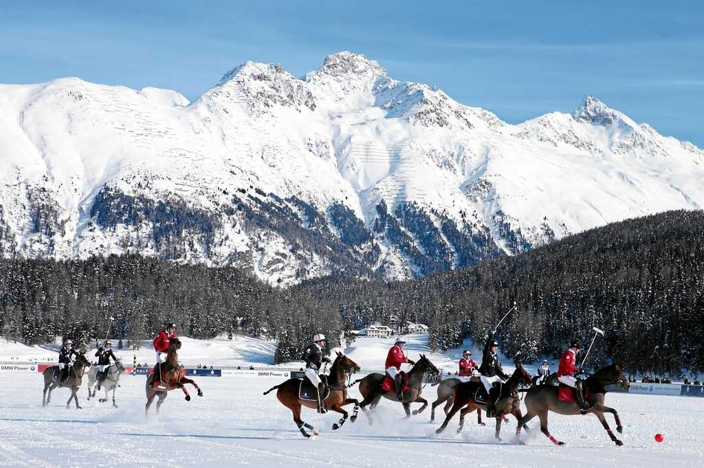 Snow Polo World Cup St. Moritz: Badrutt's Palace Hotel vs. Cartier