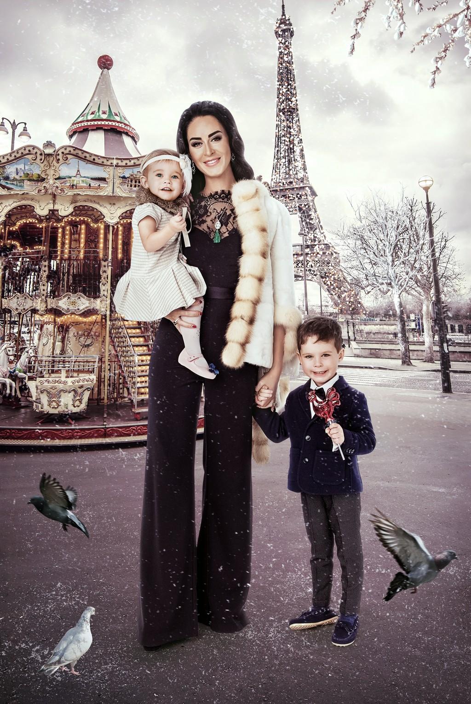 Виктория Файнблат, сын Леонид и дочь Виктория.