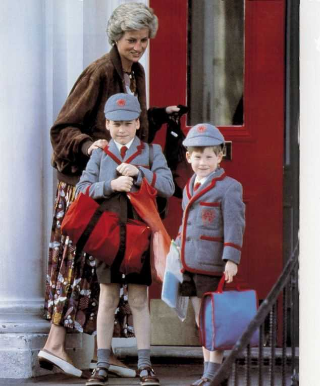 Принцесса Диана с сыновьями Уильямом и Гарри
