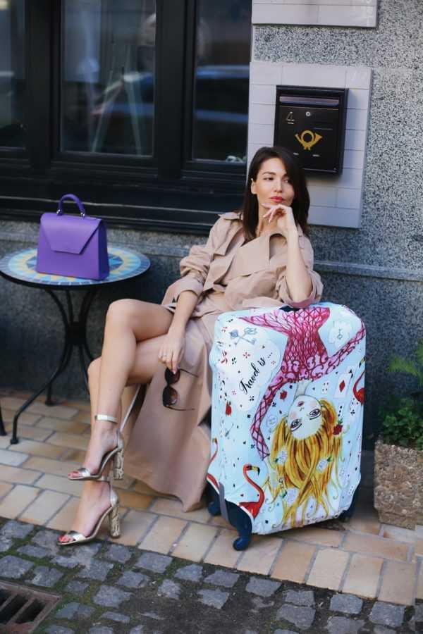 Чехол для чемодана Travel is..., Тренч The BODY Wear, сумка VerbenA