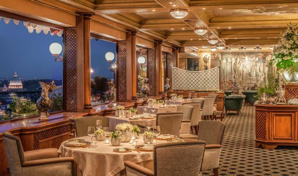 Рим, ресторан «La Pergola»