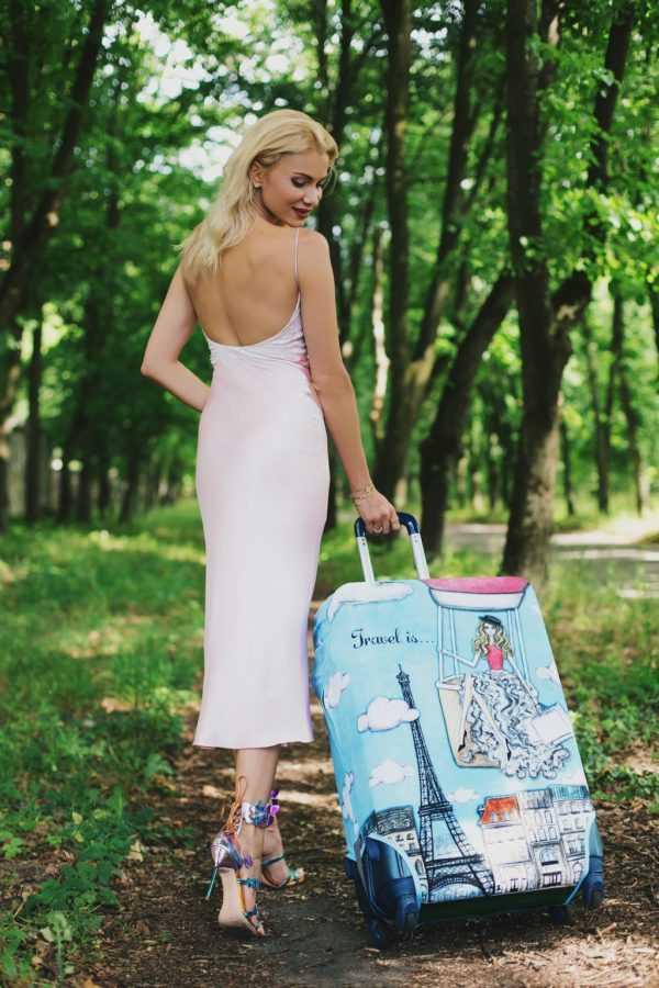 Чехол для чемодана Travel is..., Платье Elena Burba