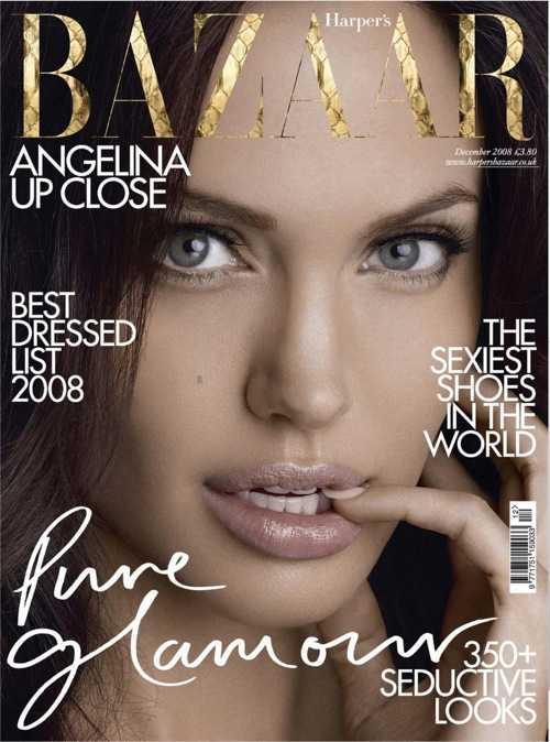 Предыдущая обложка Harper`s Bazaar с Анджелиной Джоли