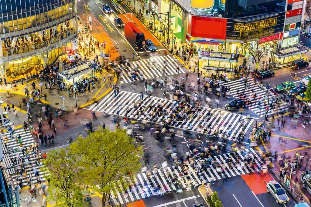 Токио, вид сверху