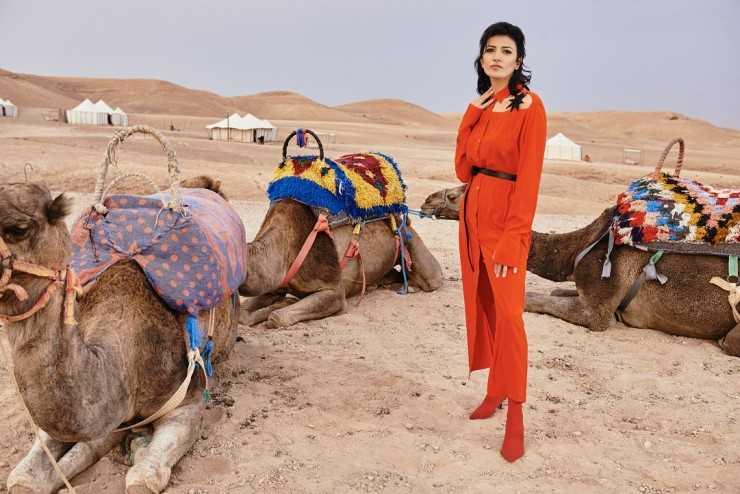 Платье-рубашка и пояс Aysina Локация: Scarabeo Camp, пустыня возле Марракеша