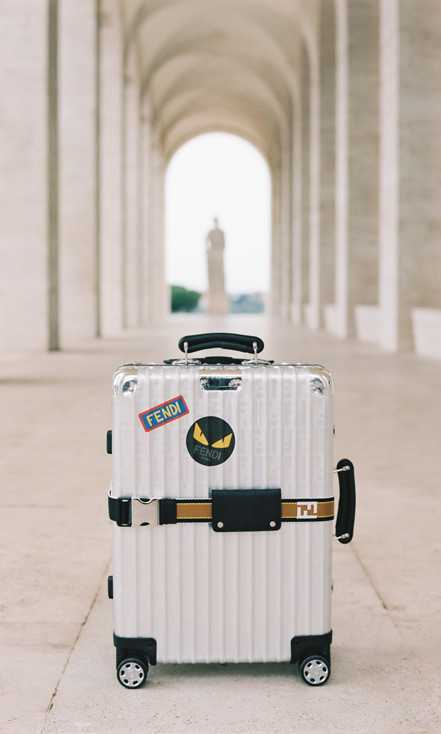 RIMOWA и FENDI чемодан