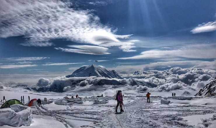 Денали (до 2015 года Мак-Кинли), высота 6194 м