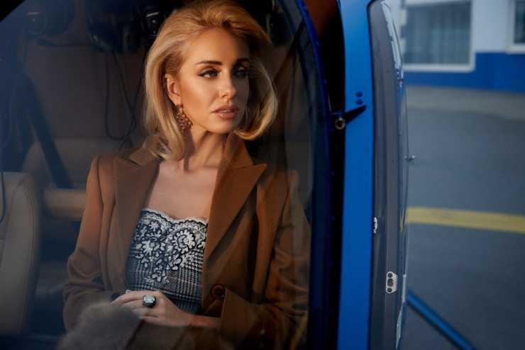 Пиджак Gucci Брюки Celine Свитер Philosophy di Lorenzo Serafini Подвеска Lanvin Сумка Simonetta Ravizza Туфли Cerasella