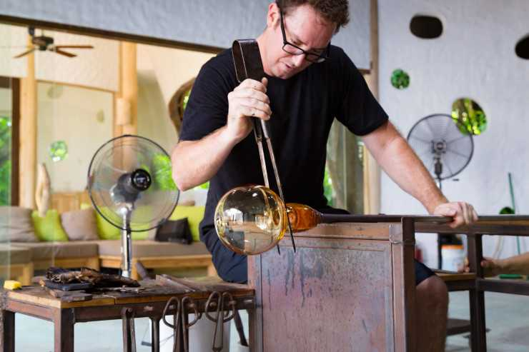 Glass Maker at Soneva Art& Glass