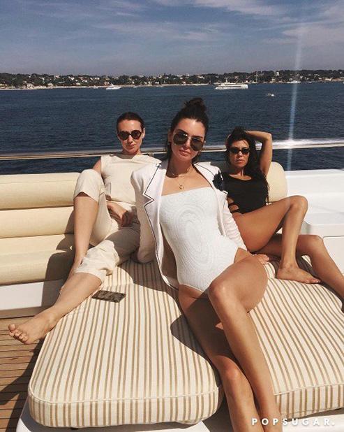 Kendall-Jenner-White-Swimsuit-Sleeves