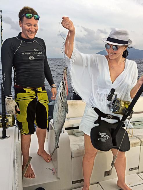 Здесь я поймала своего первого тунца