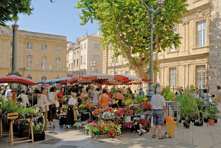 Рынок в Экс-ан-Провансе