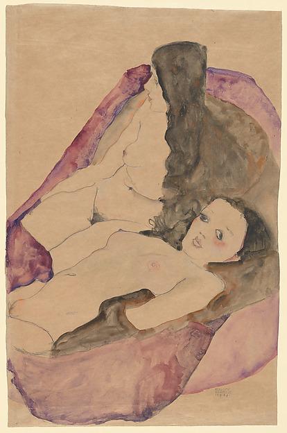 Gustav Klimt, Reclining Nude