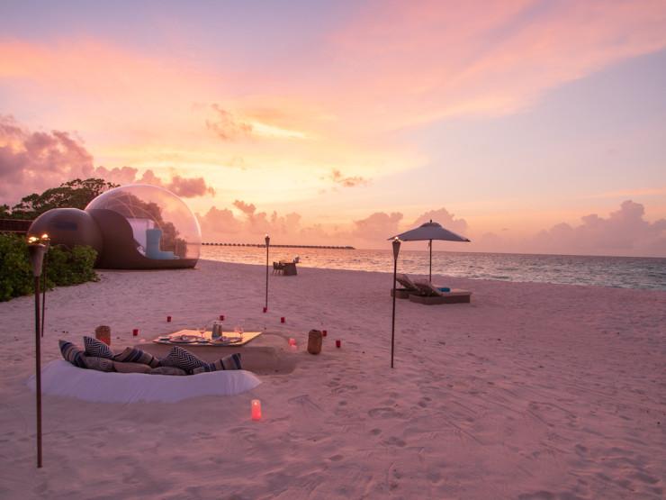 Finolhu, Maldives launches Beach Bubble Tent 11