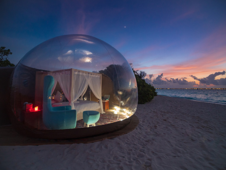 Finolhu, Maldives launches Beach Bubble Tent 2