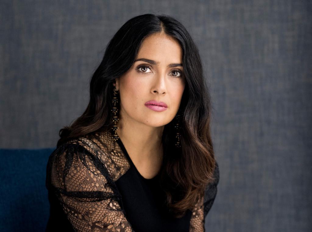"""Salma Hayek, who stars in the new film """"Beatriz at Dinner,"""" in New York."""