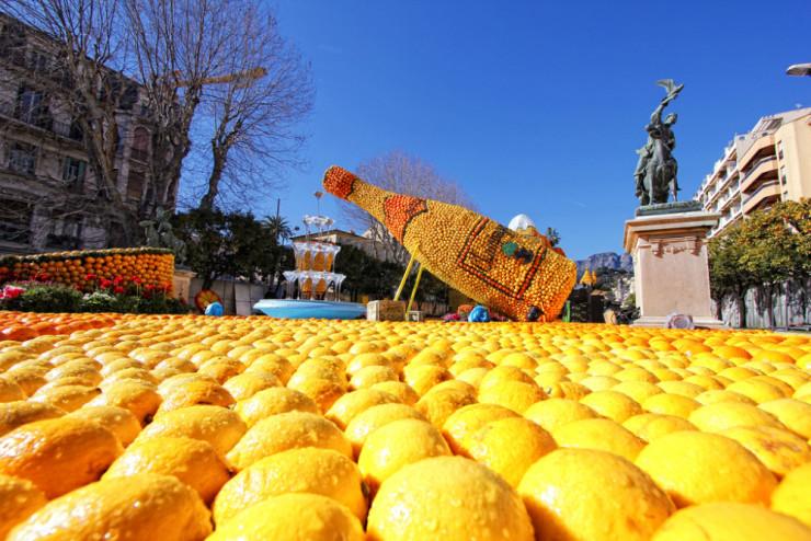 Лимонный фестиваль в Ментоне. Фото: Office de tourisme de Menton