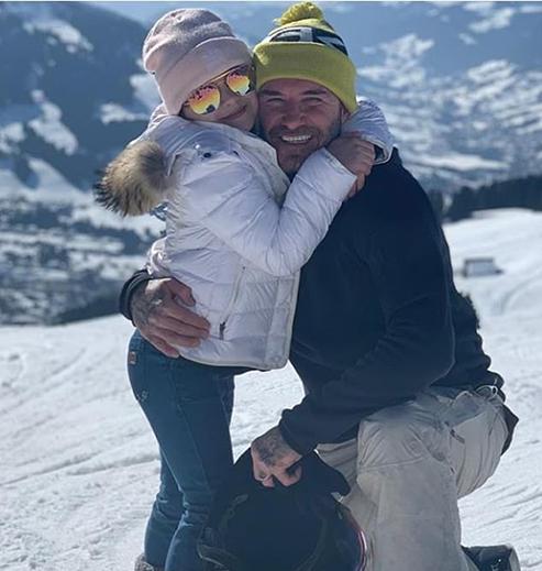 Дэвид с дочерью Харпер