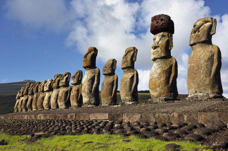 Картинки по запросу Статуи острова Пасхи находятся под угрозой исчезновения