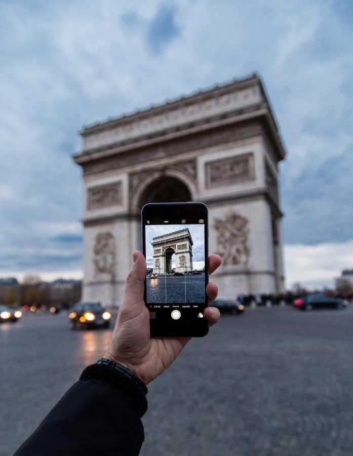 онлайн-путешествия, триумфальная арка, париж