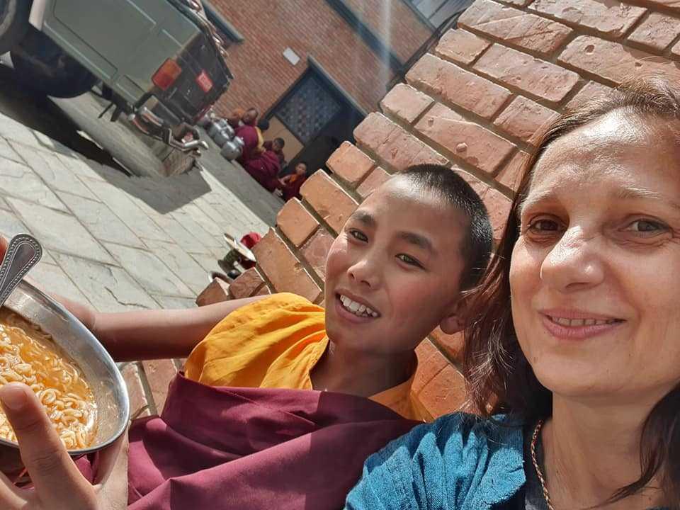 Непал, мужской монастырь в Катманду
