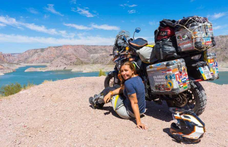 Украинка Анна Гречишкина три года назад отправилась в кругосветное путешествие на мотоцикле, которое назвала «I have a dream»