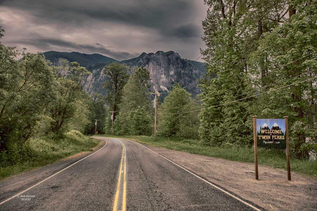 Где снимали Твин Пикс, знак, Вашингтон, места съемок Твин Пикс