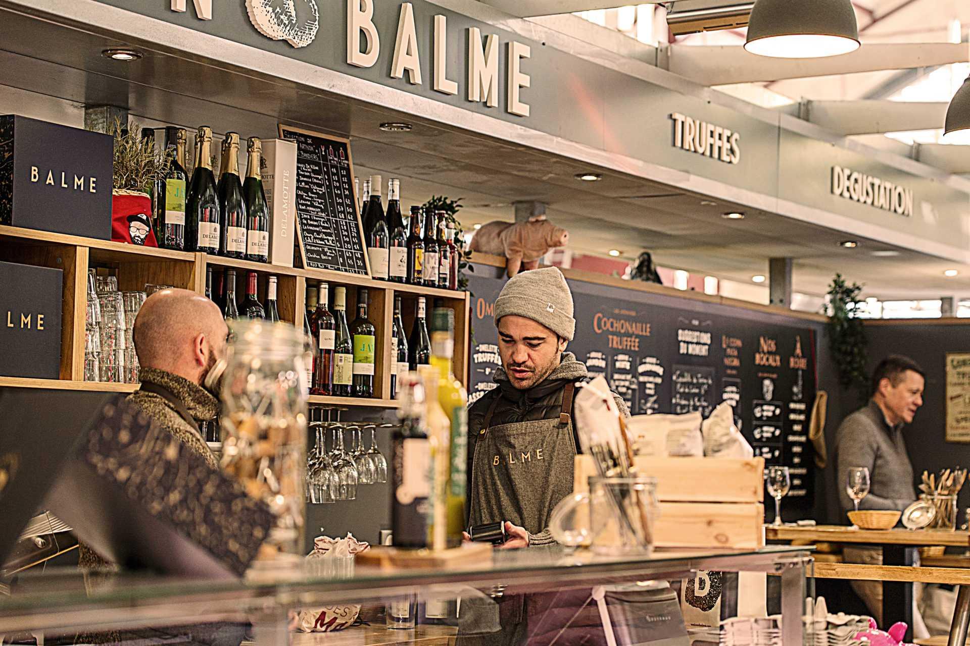 Крытый рынок еды в Биаррице Les Halles