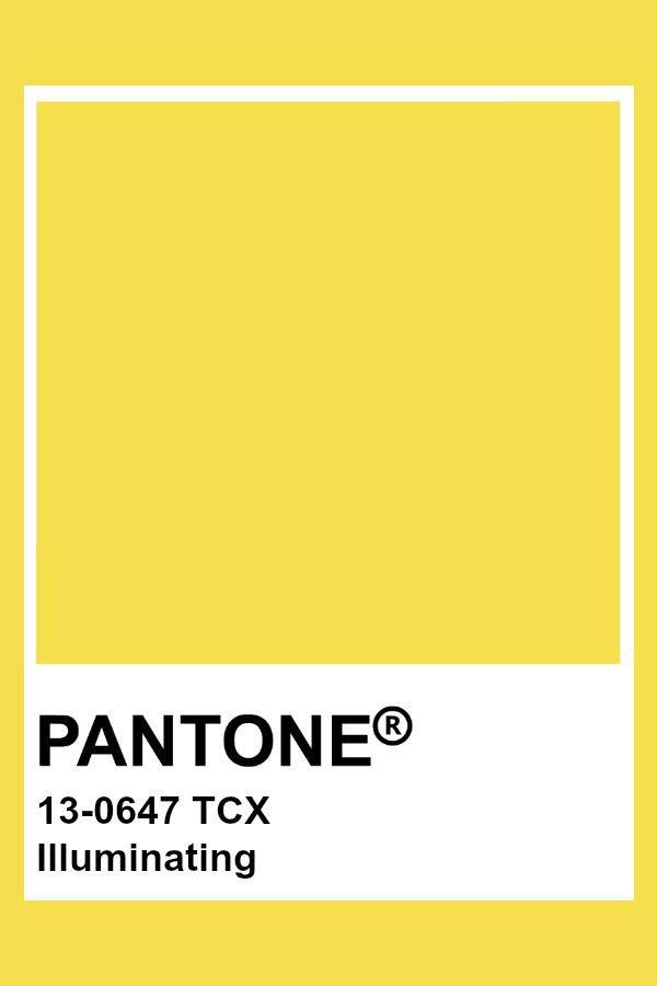 главные цвета 2021 Солнечно-желтый (Illuminating)