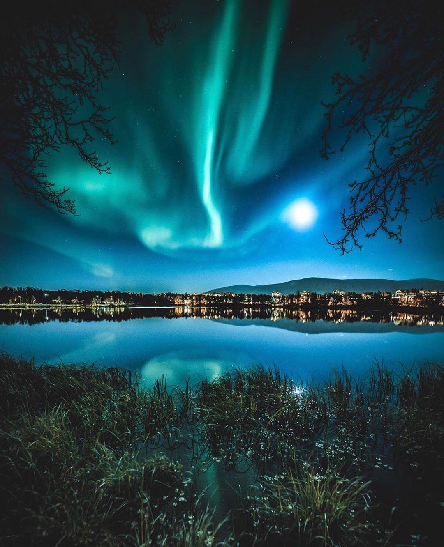 норвегия северное сияние