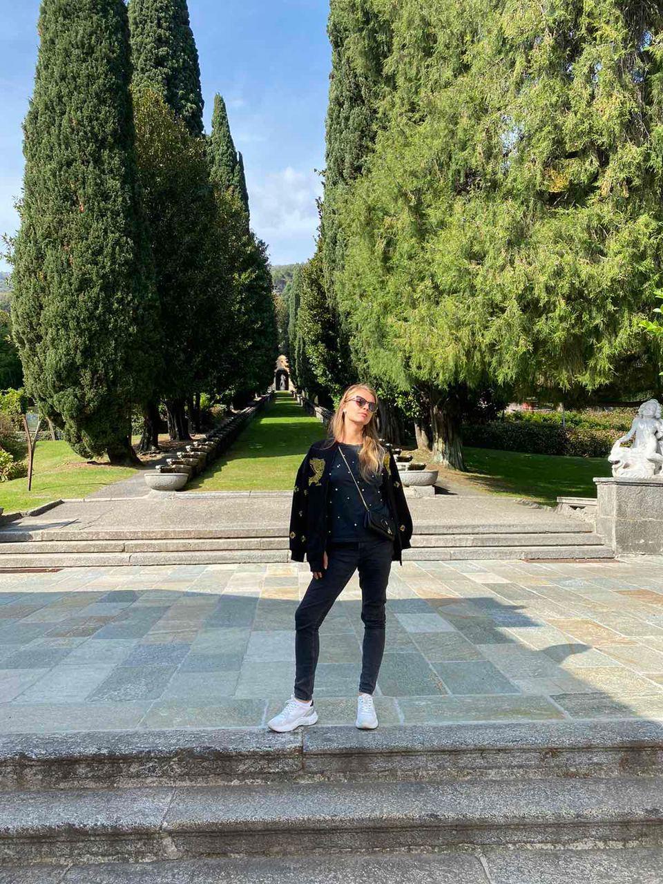 Юлия Криницкая на Villa d'Este