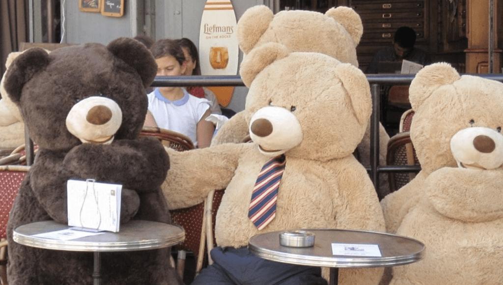 медвежата в Париже