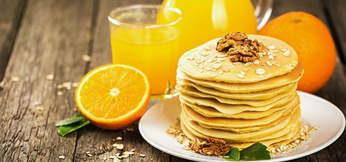 Оладьи на апельсиновом соке