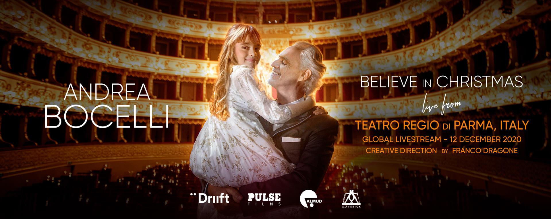 «Believe in Christmas»: Андреа Бочелли даст рождественский онлайн-концерт