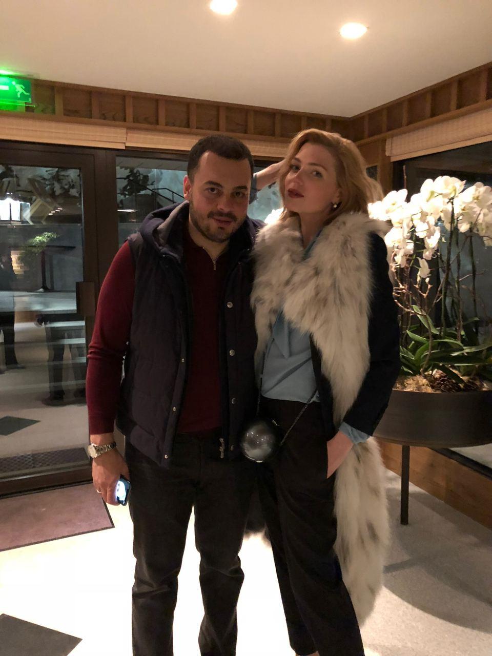 Катя Любчик с мужем